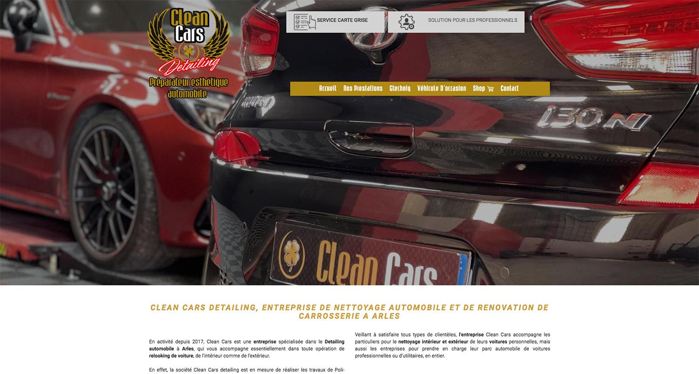 Clean Cars, nettoyage automobile à Arles - Création de site internet