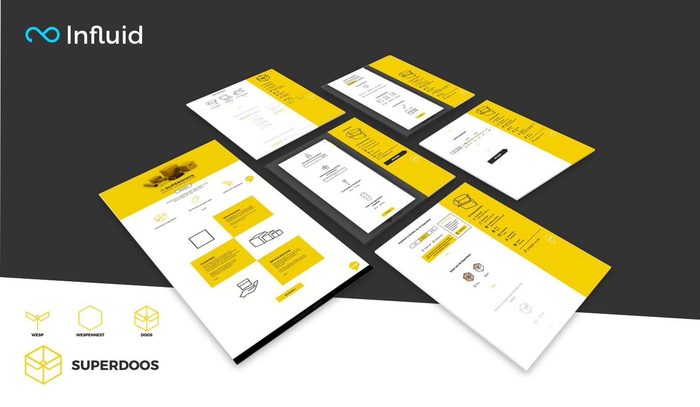 Website design and userflow for Superdoos - Website Creatie