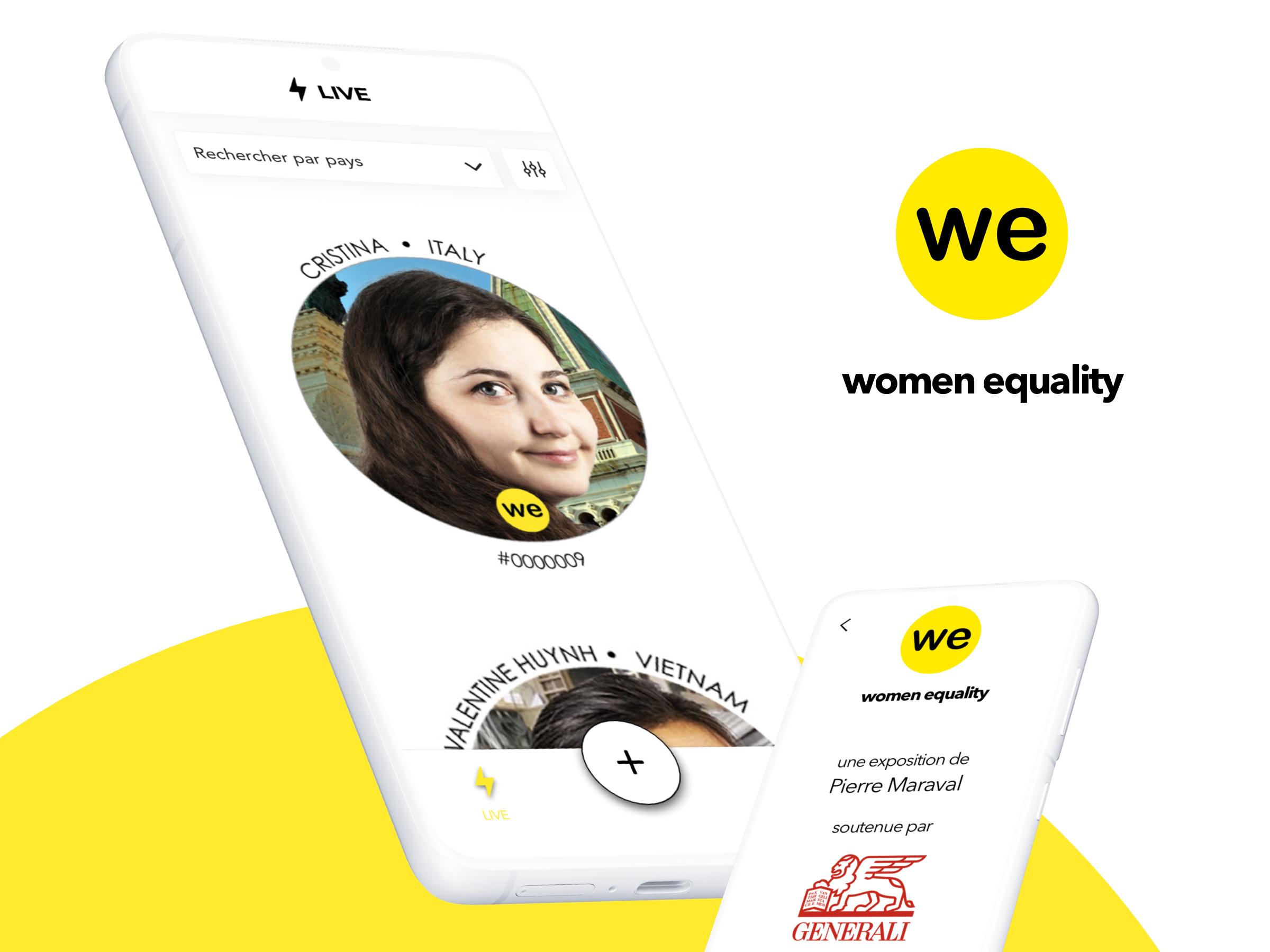 WOMAN EQUALITY - Site & app d'une expo mondiale - Application mobile
