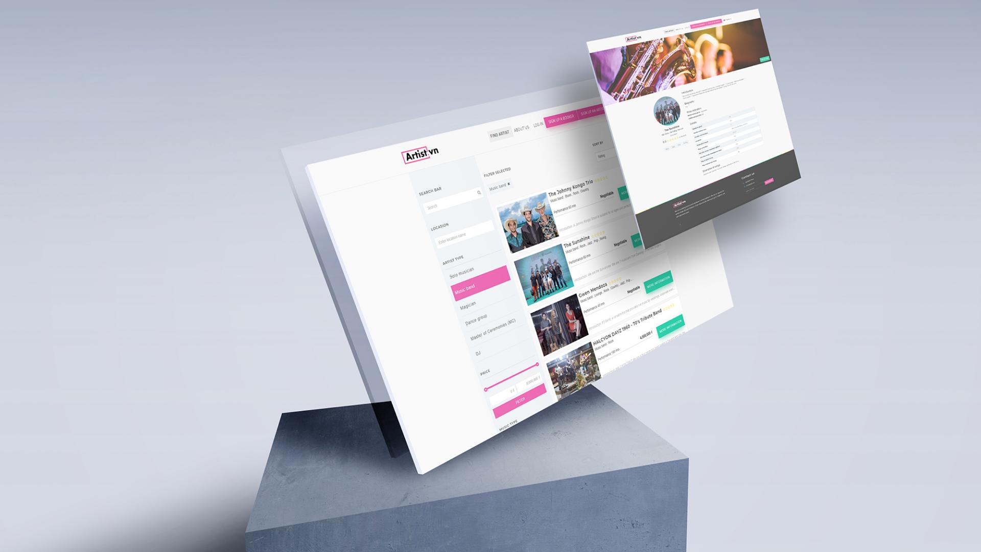 Artist.vn Website Development - Website Creation