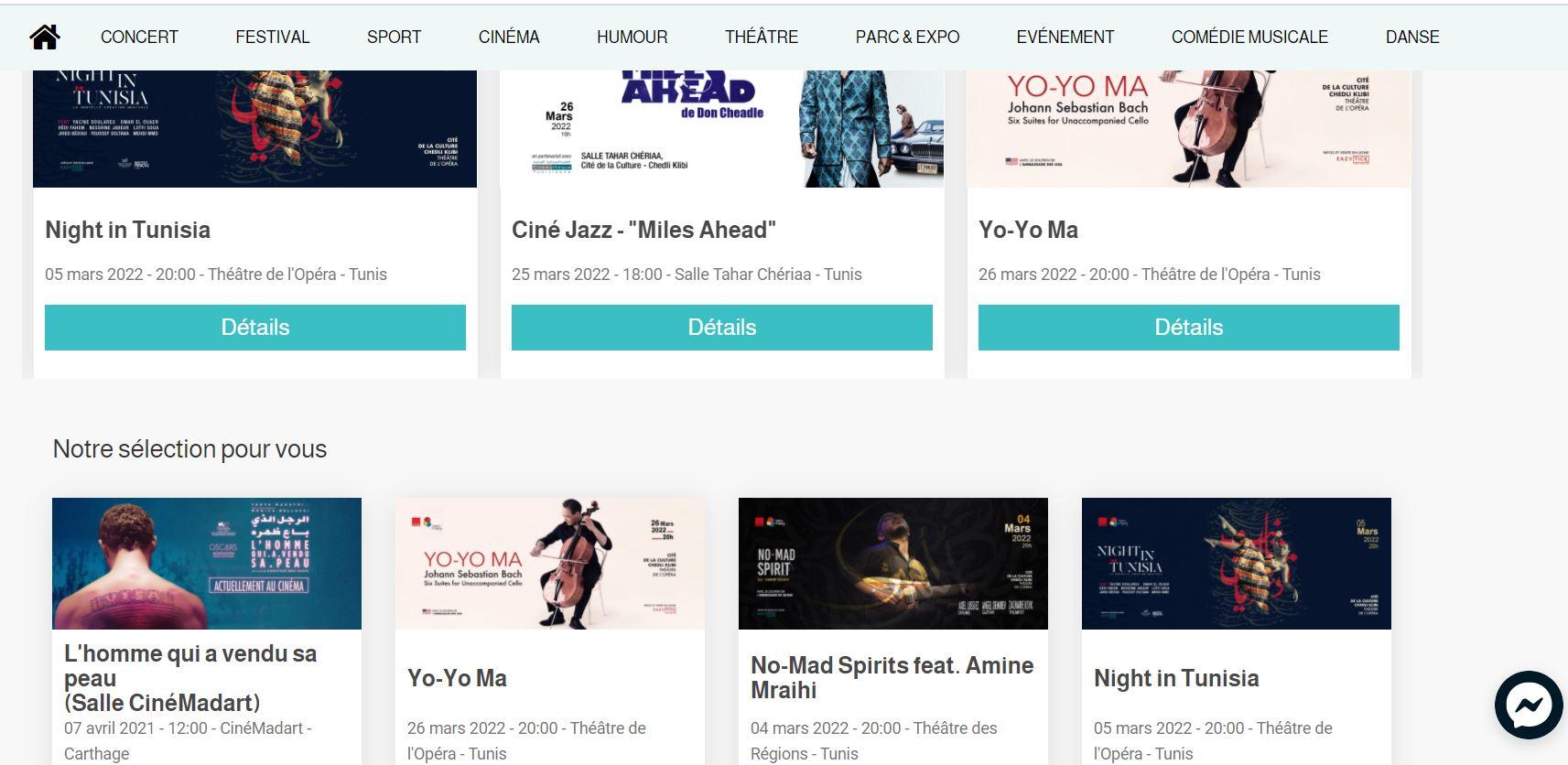 EazyTick - Website Creation