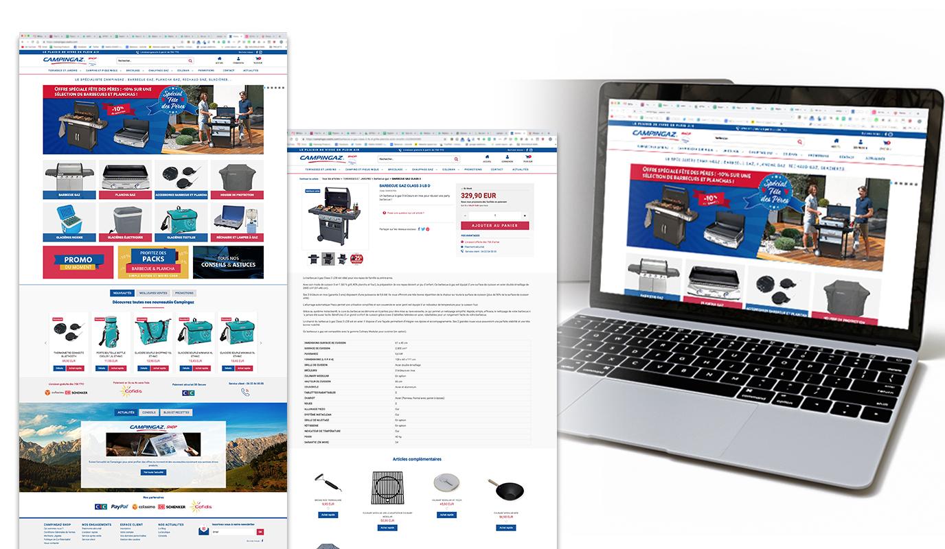 Campingaz Shop - Site e-commerce - Création de site internet