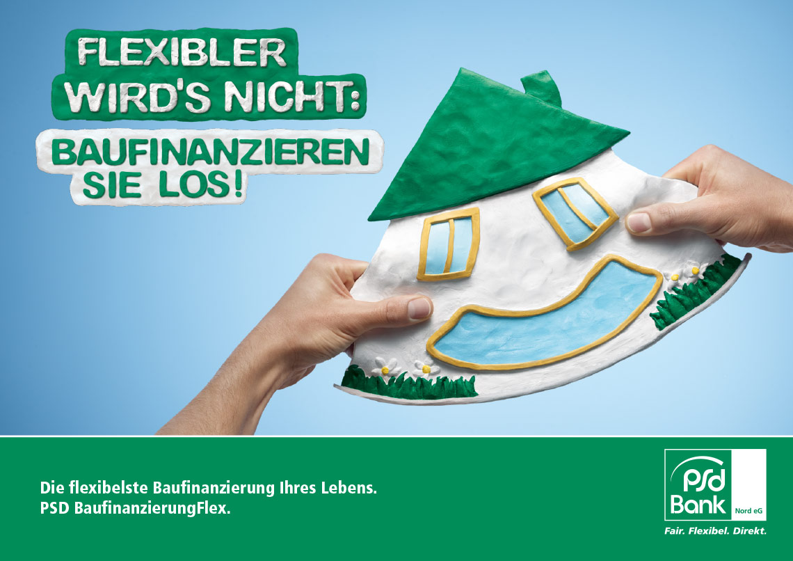 "PSD - BaufinanzierungFlex ""Flexibler wird's nicht"""