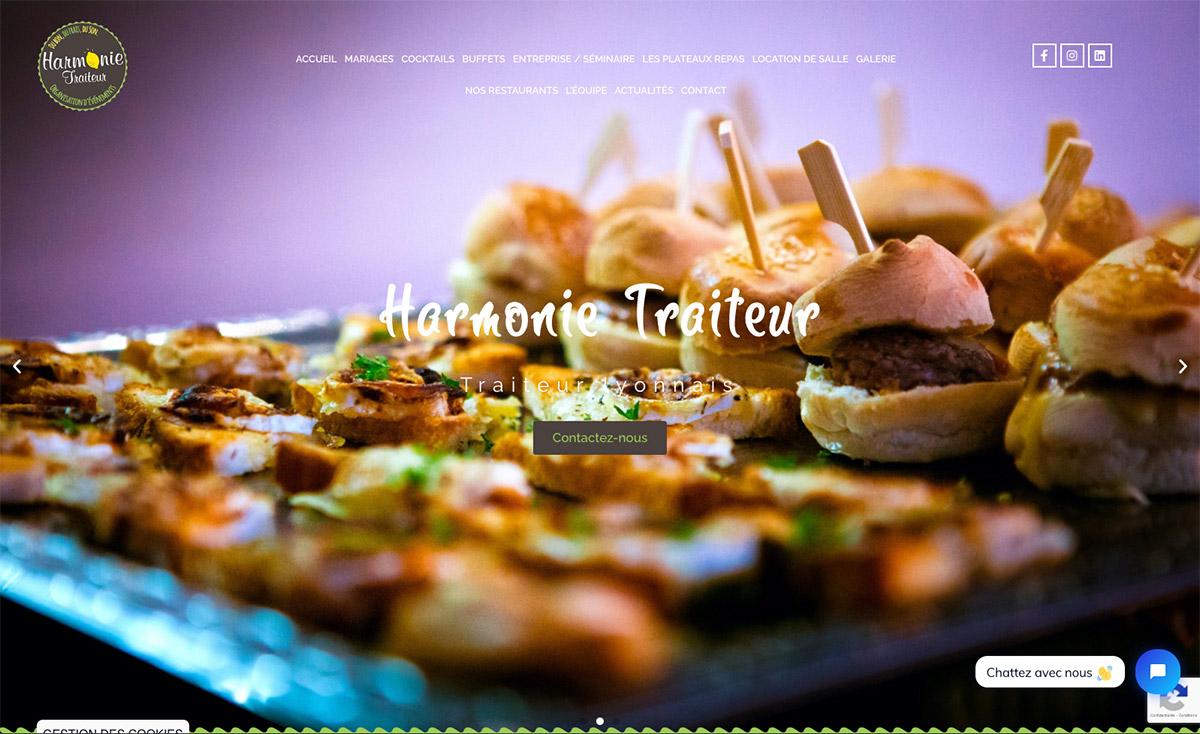 Harmonie Traiteur, traiteur à Lyon - Création de site internet