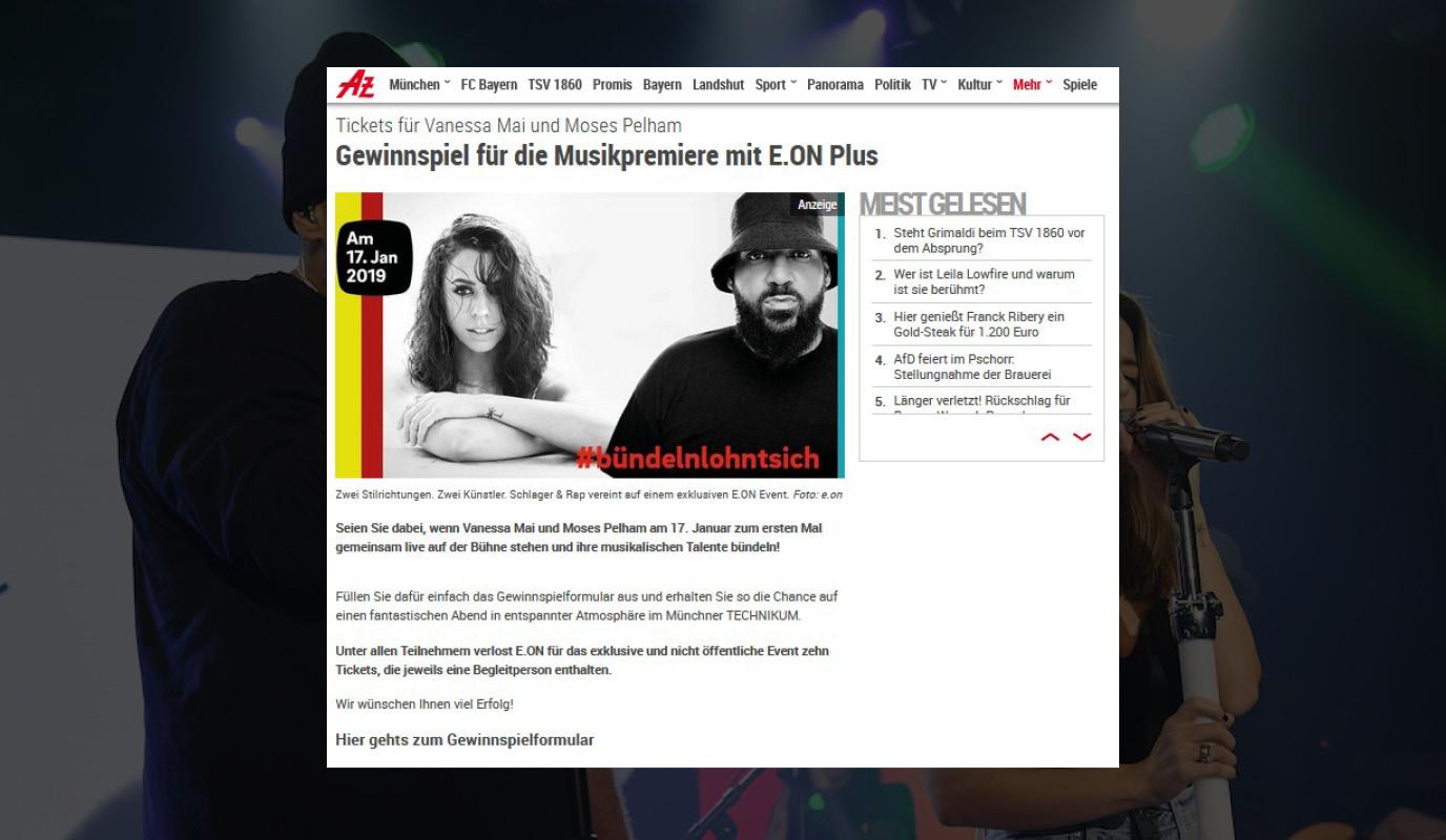 Produktlaunch E.ON Plus - Öffentlichkeitsarbeit (PR)
