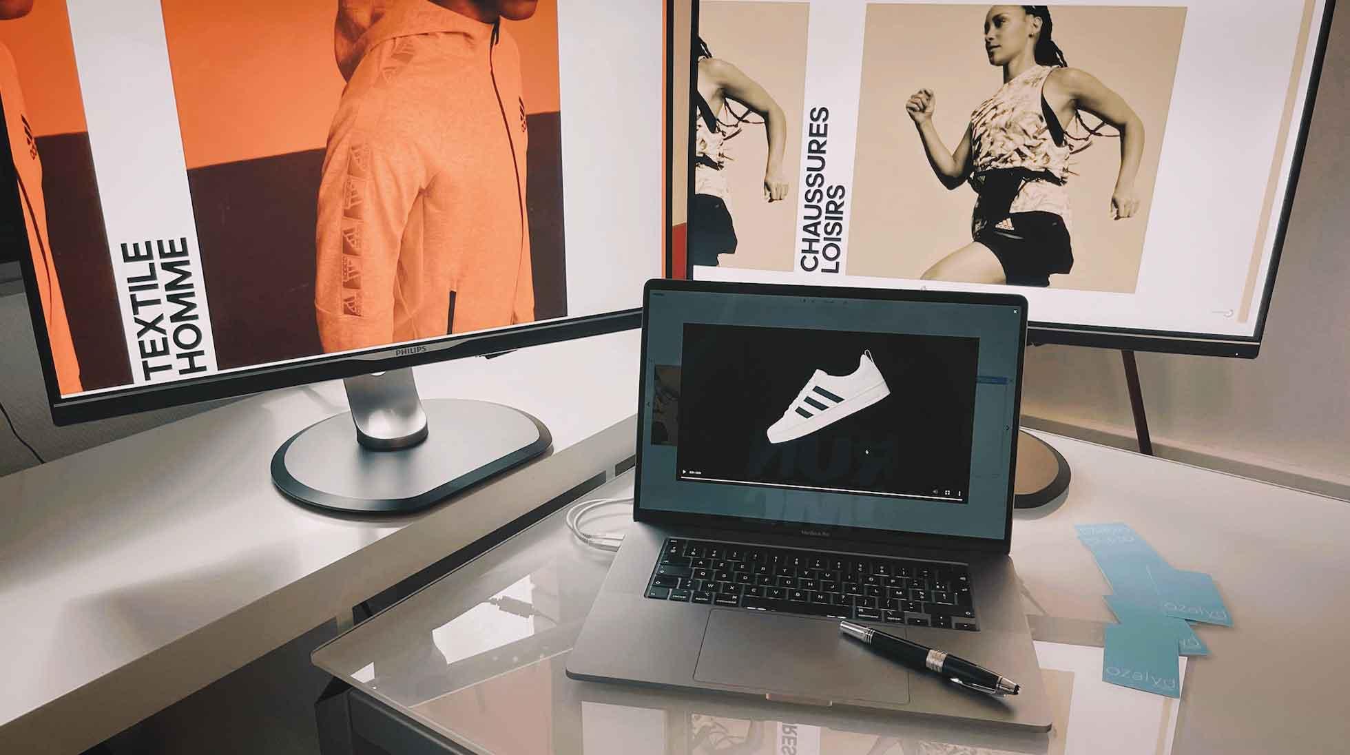 Adidas : eCatalogue interactif et dynamique - Création de site internet