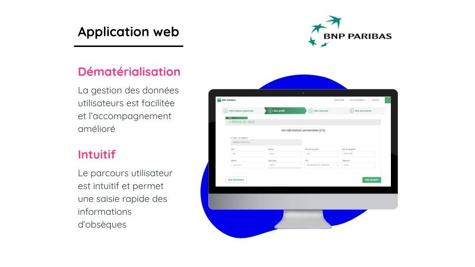 BNP PARIBAS CARDIF - Application web