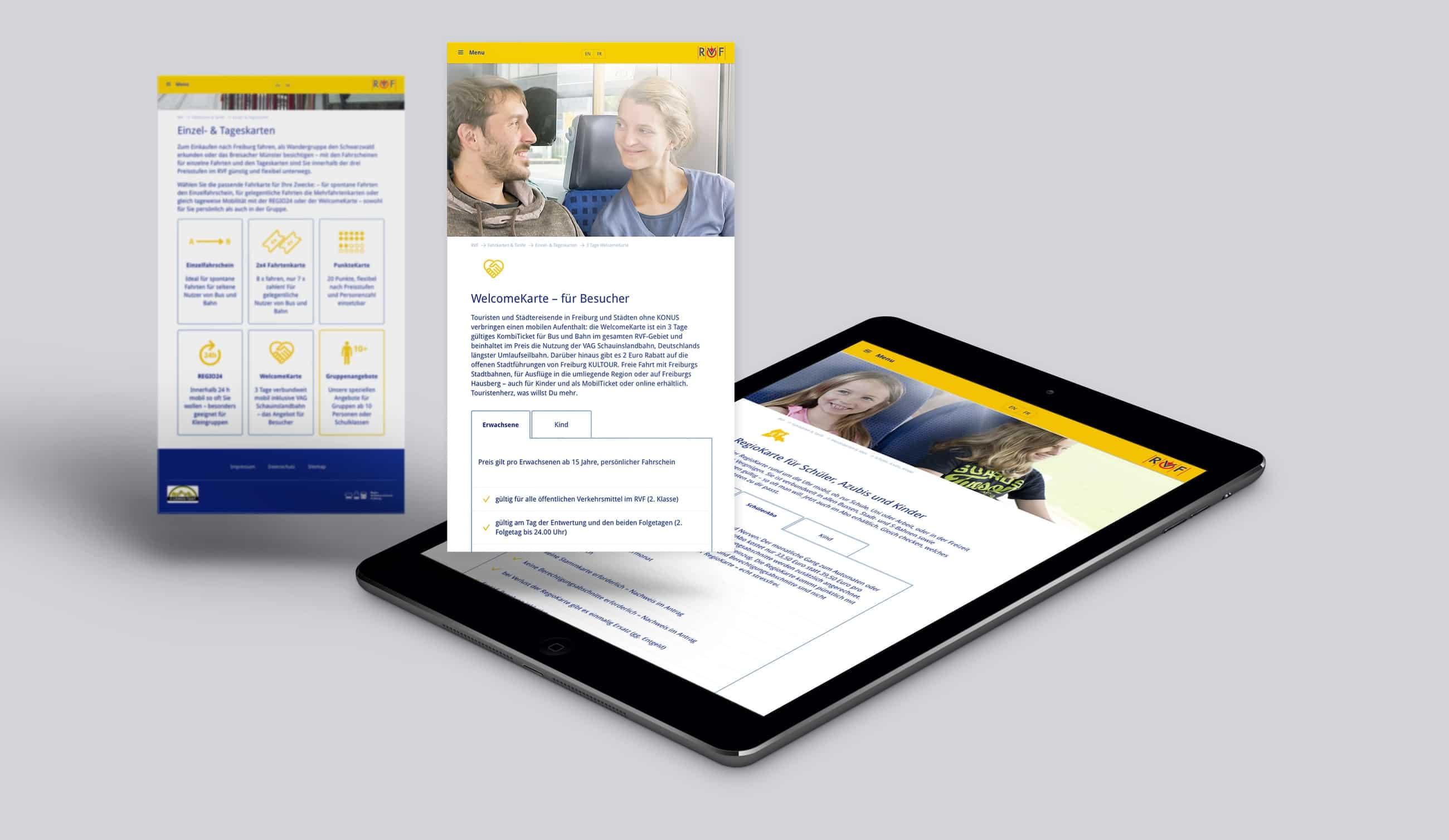 Webportal RVF Regio-Verkehrsverbund - Webanwendung