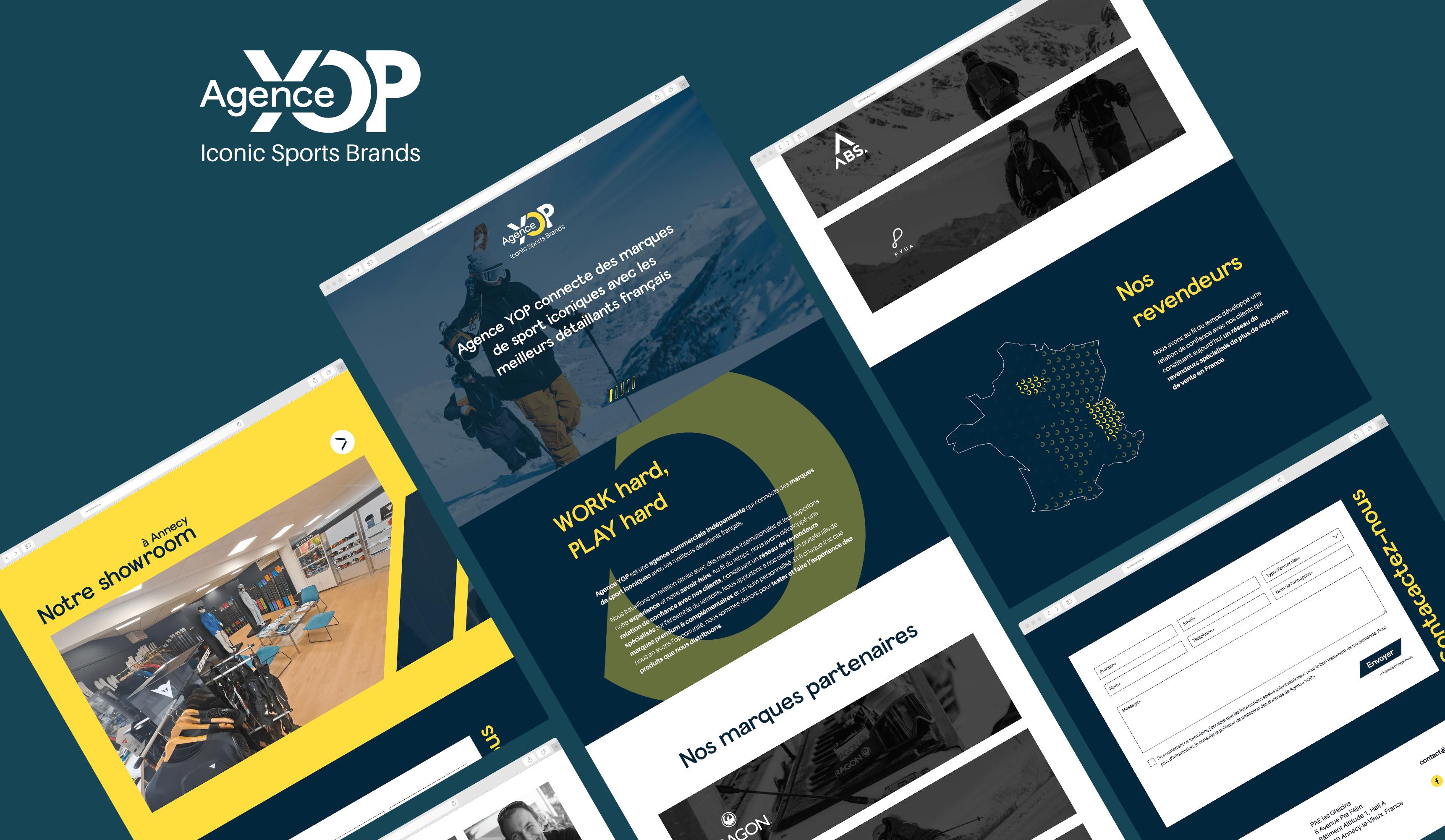 Identité visuelle et conception du site web - Création de site internet