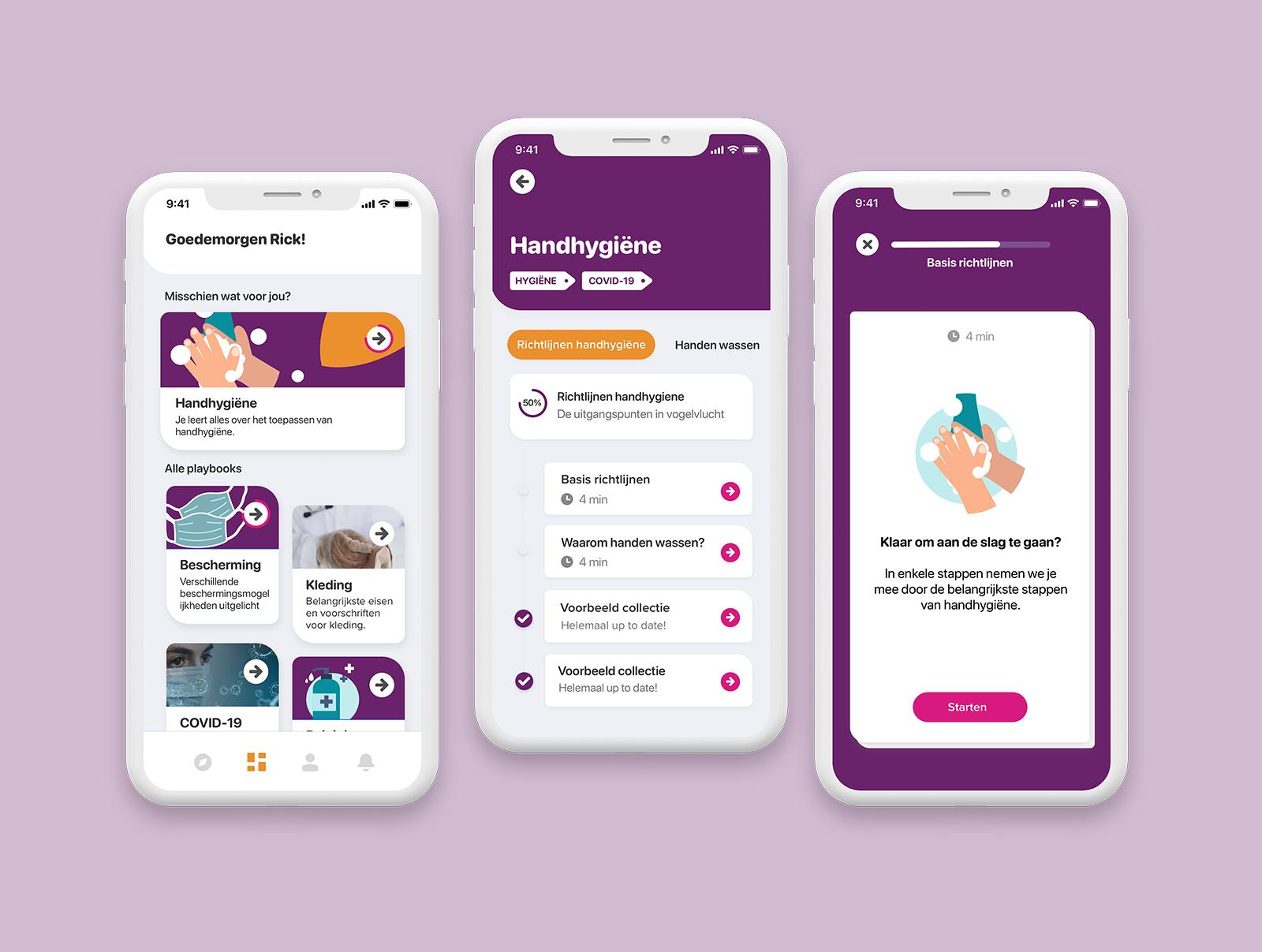 Lelie zorggroep: handhygiene - Mobile App