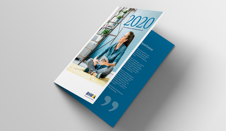 BHW Geschäftsbericht 2020 - Grafikdesign