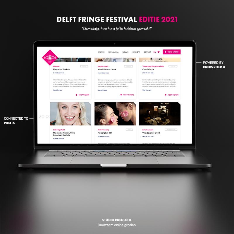 Webdesign & ticket shop Delft Fringe Festival - Website Creation