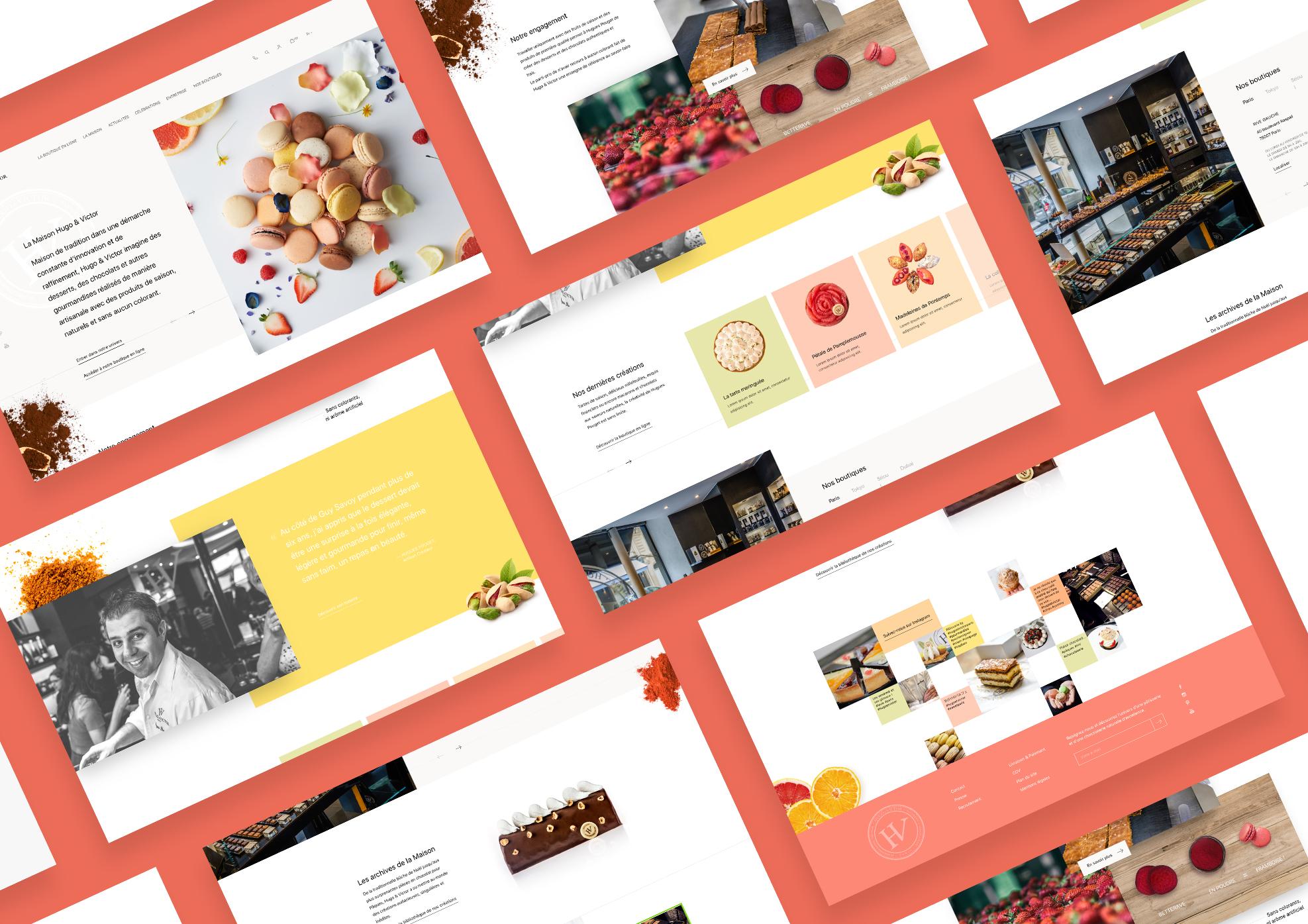 Hugo&Victor   Site e-commerce - Réseaux sociaux