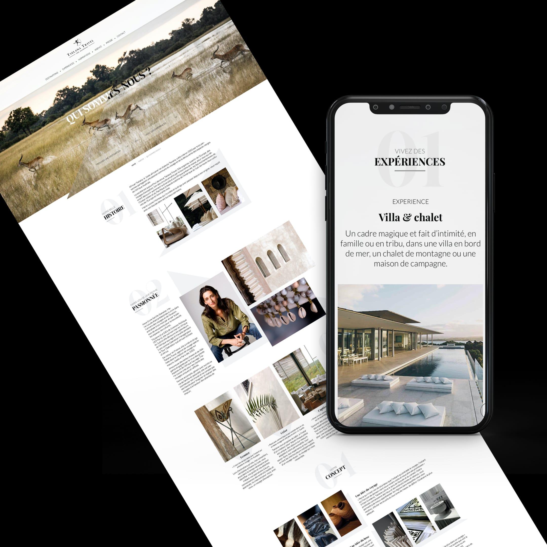 Tselana Travels – Site Vitrine // Voyage - Création de site internet