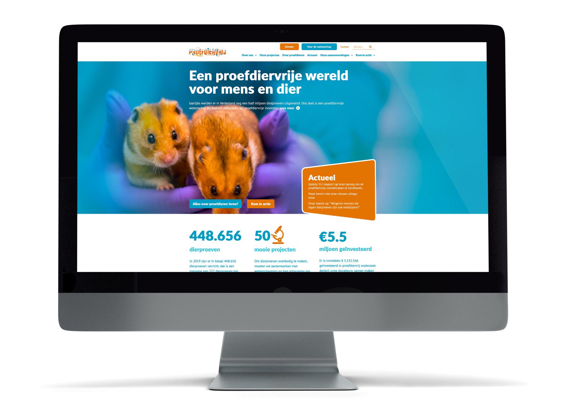 Website op maat voor stichting proefdiervrij - Website Creatie