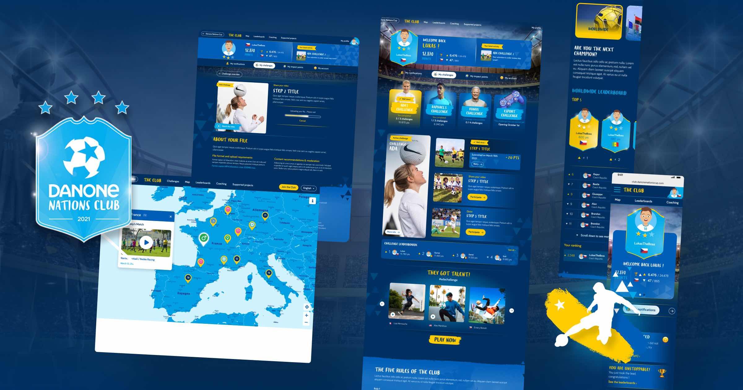 Danone - Danone Nations Club - Création de site internet