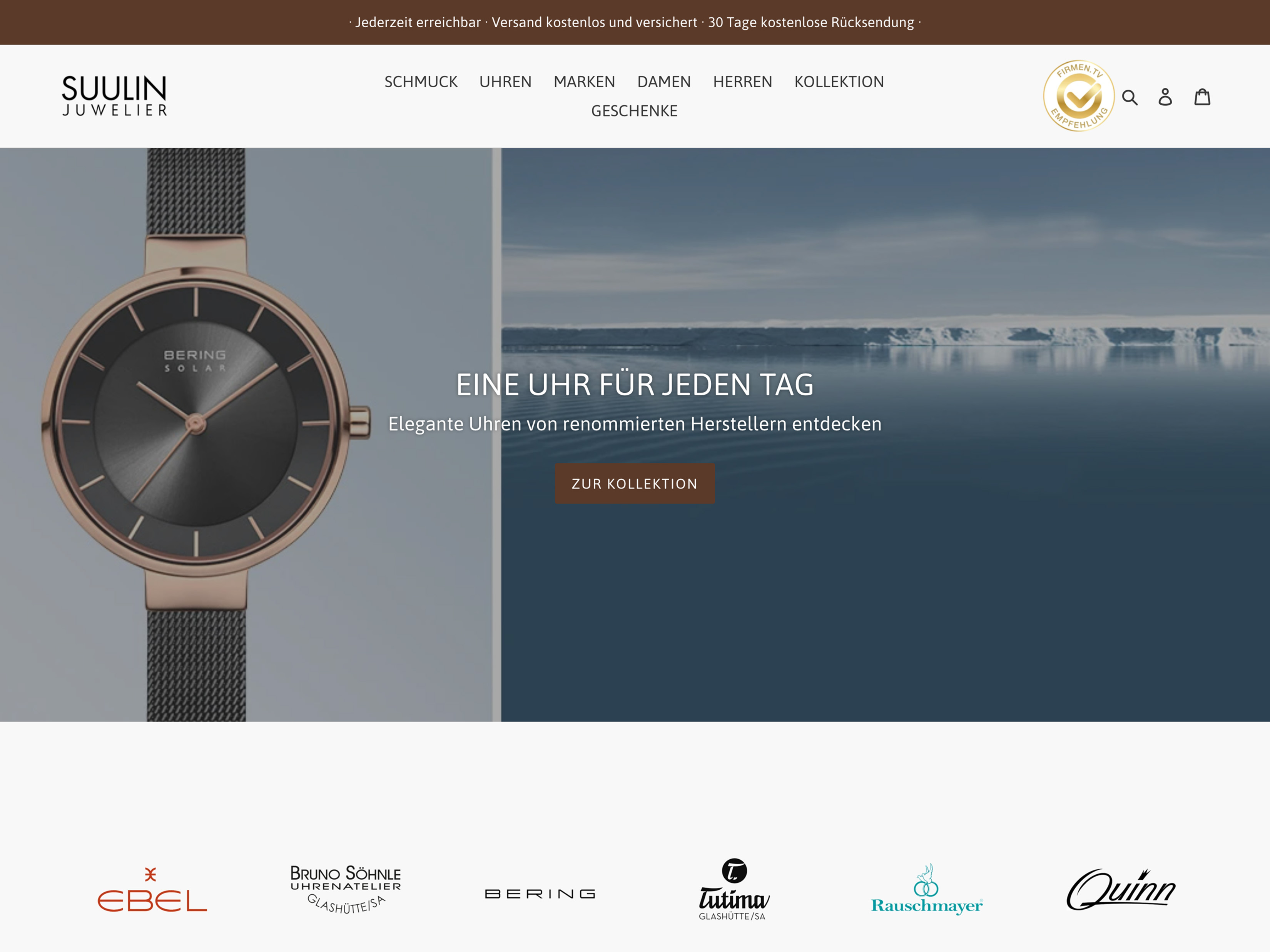 Onlineshop für Lokalunternehmen (Juwelier) - Content-Strategie