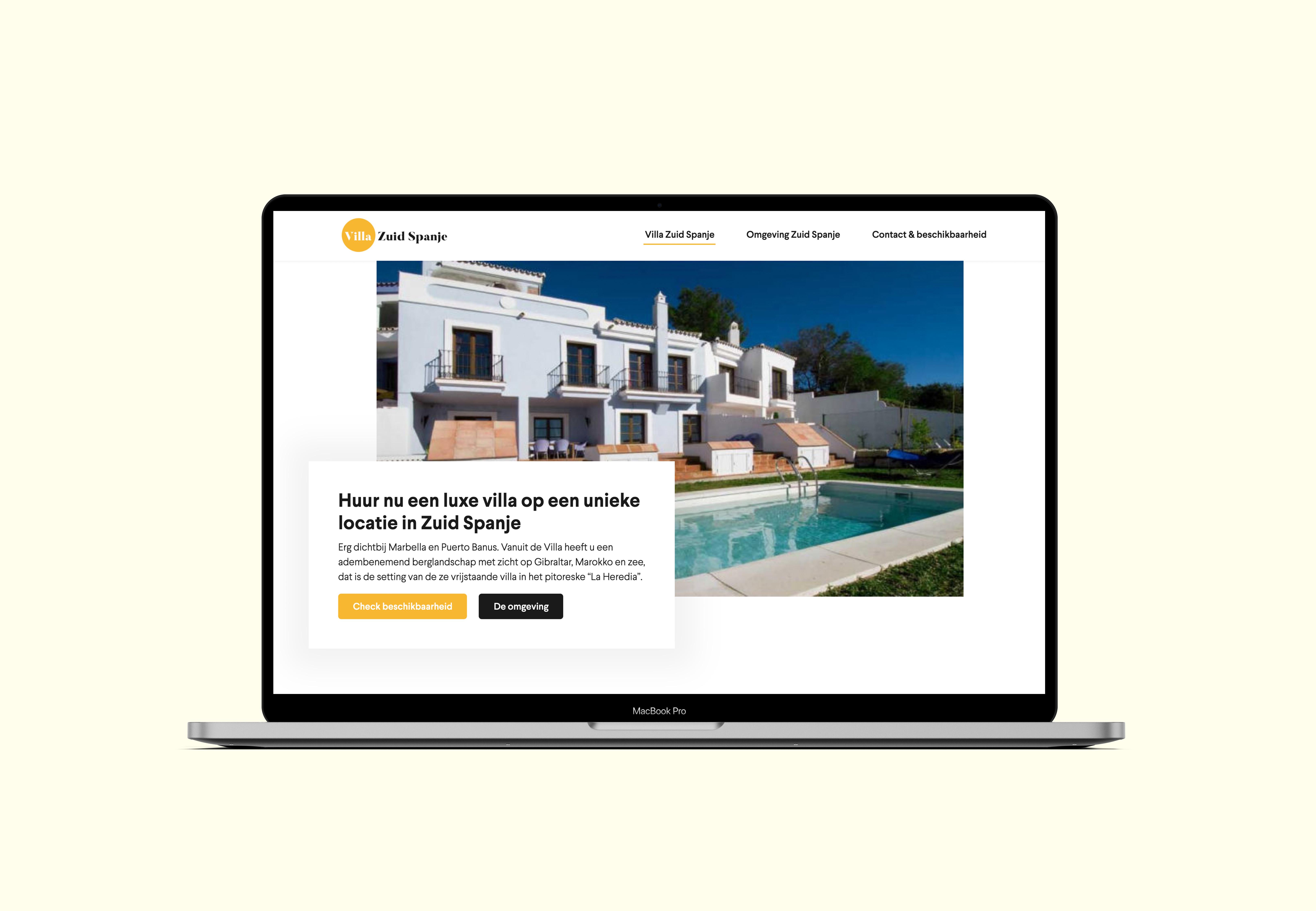 Villa Zuid Spanje - Website