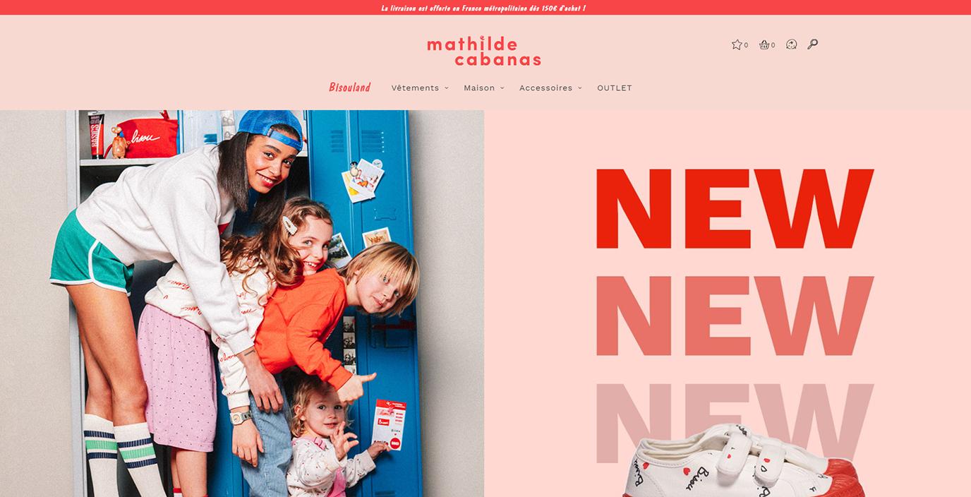 Mathilde Cabanas - E-publicité site e-commerce - E-commerce