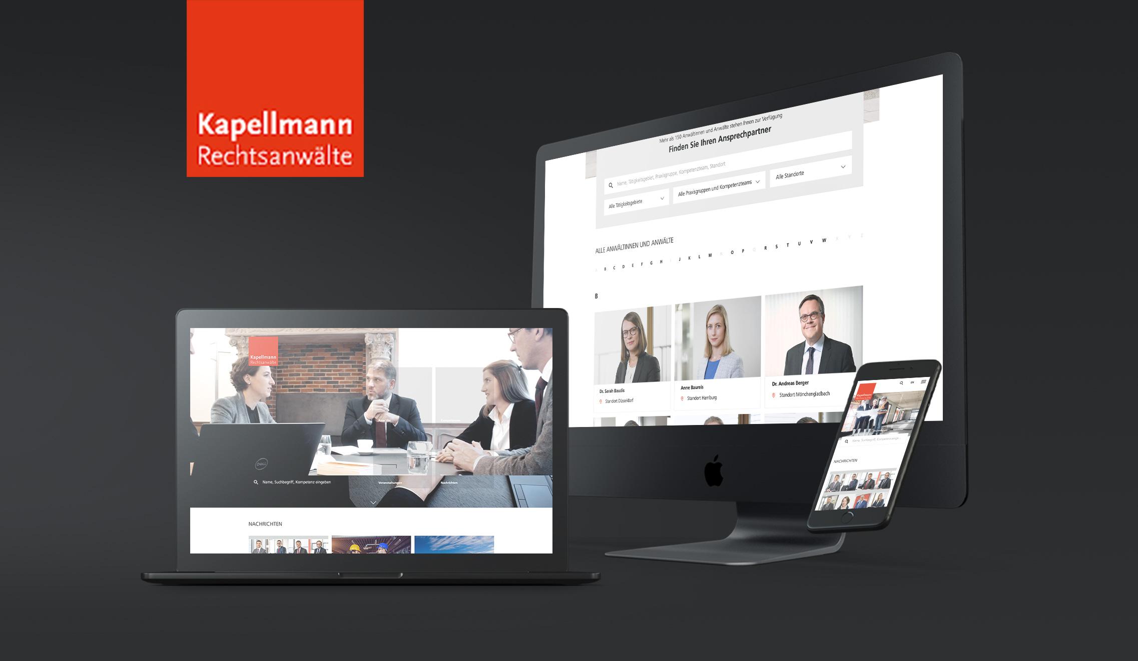 Kapellmann Website-Relaunch - Markenbildung & Positionierung
