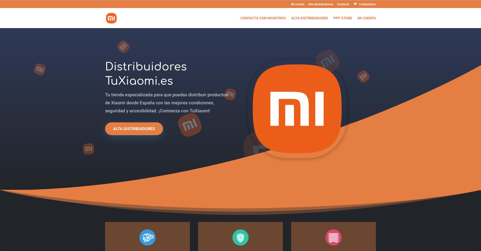 Diseño web para Distribuidores Tuxiaomi - Creación de Sitios Web