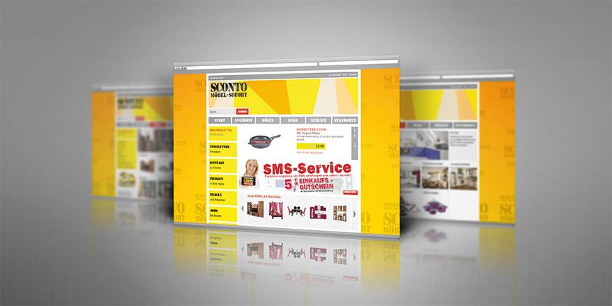 Corporate Website für SCONTO Möbel-Discounter