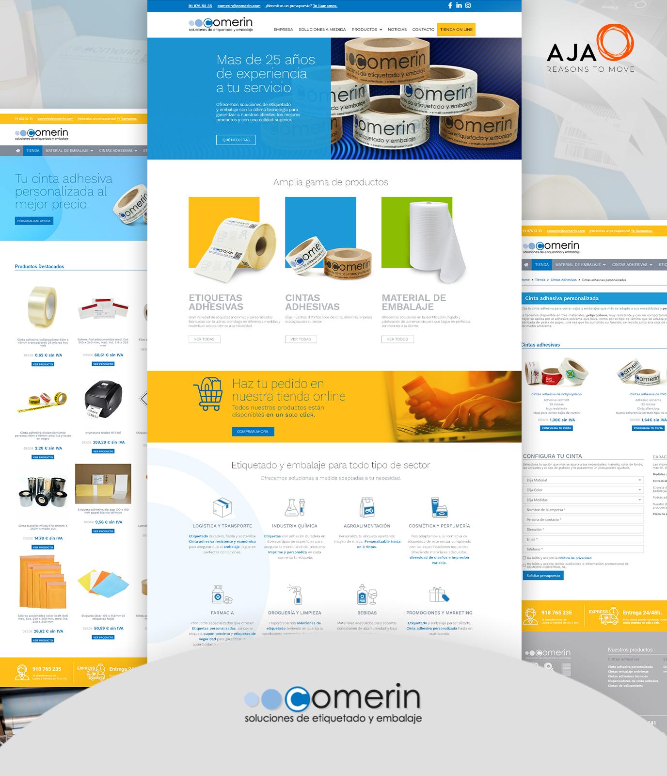 Creación de ecommerce para Comerin Industrial - E-commerce