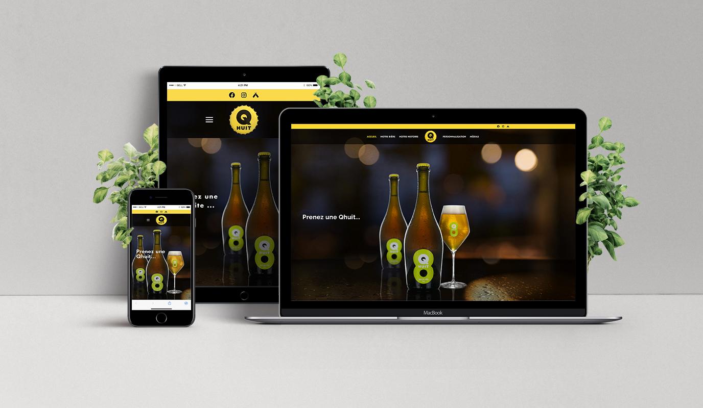 Création d'un site web pour Qhuit - Création de site internet