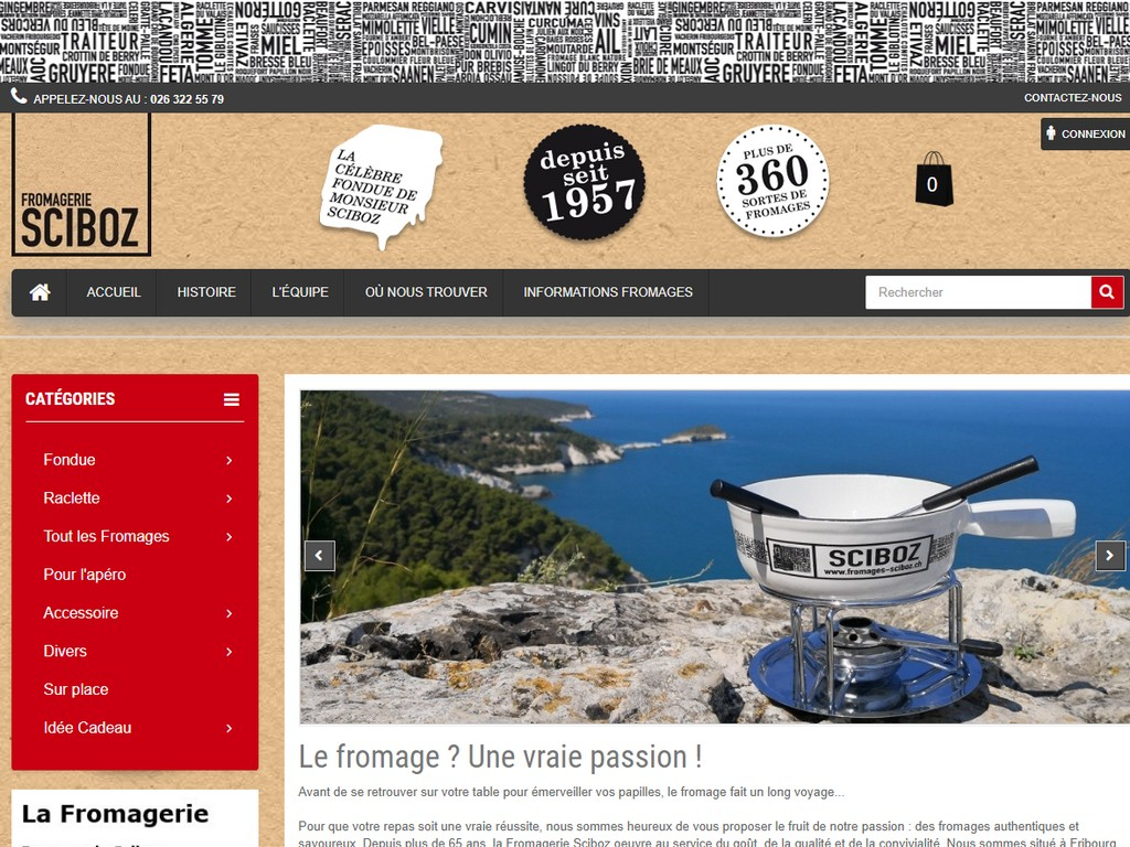 Fromages-sciboz.ch - E-commerce