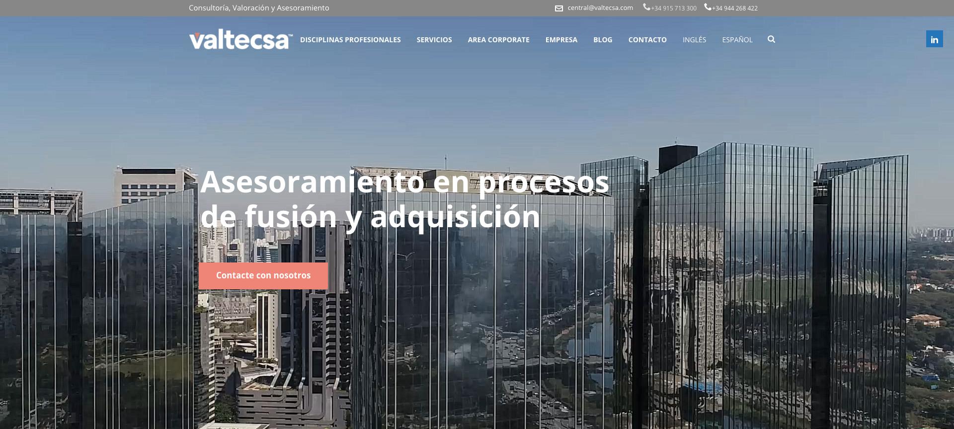 SEO Y SEM VALTECSA ES Y PT - Creación de Sitios Web