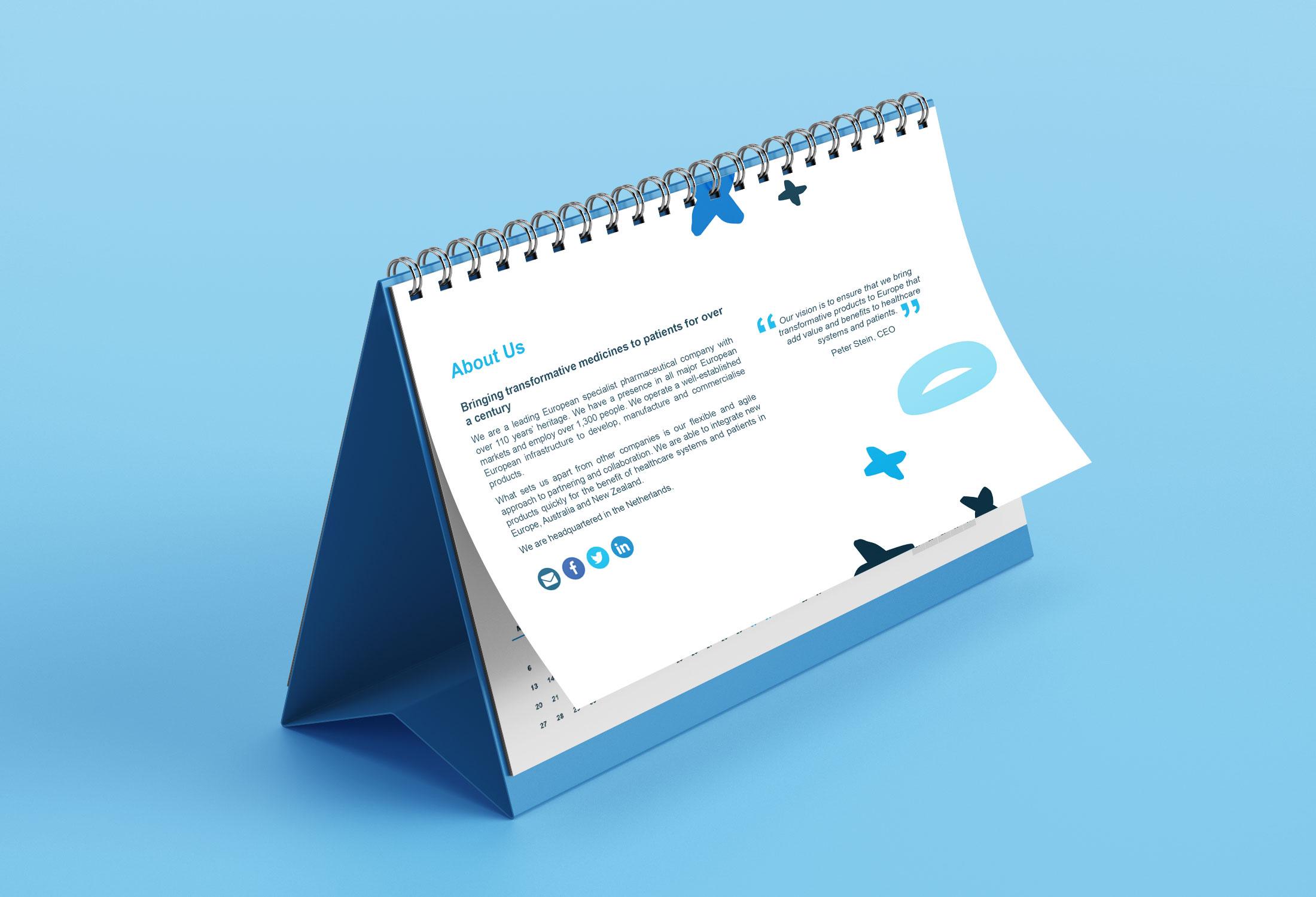 Norgine Calendar - Image de marque & branding