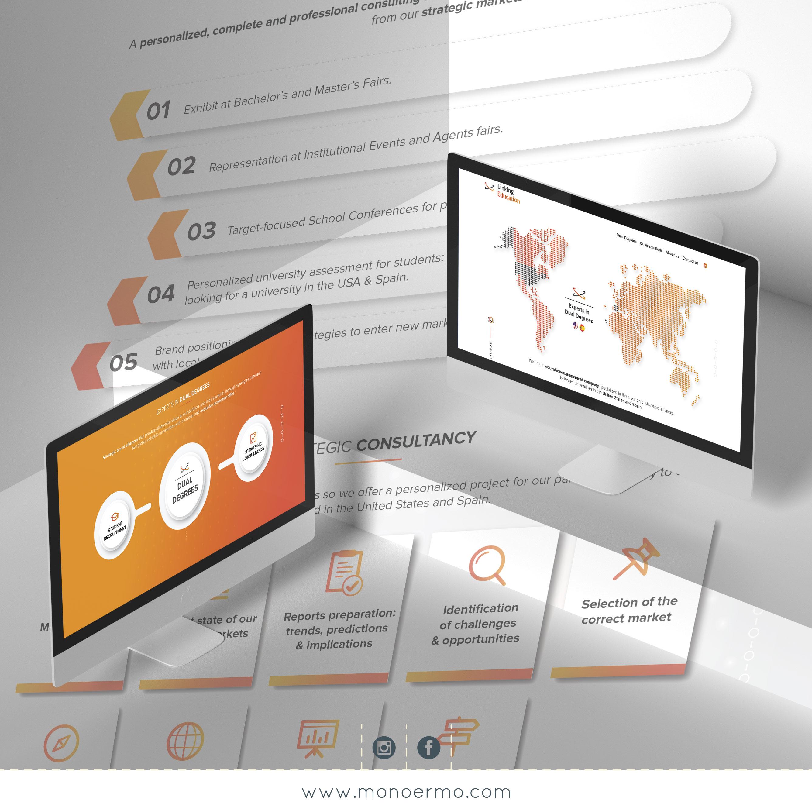 Pagina web Linking Education - Diseño Gráfico