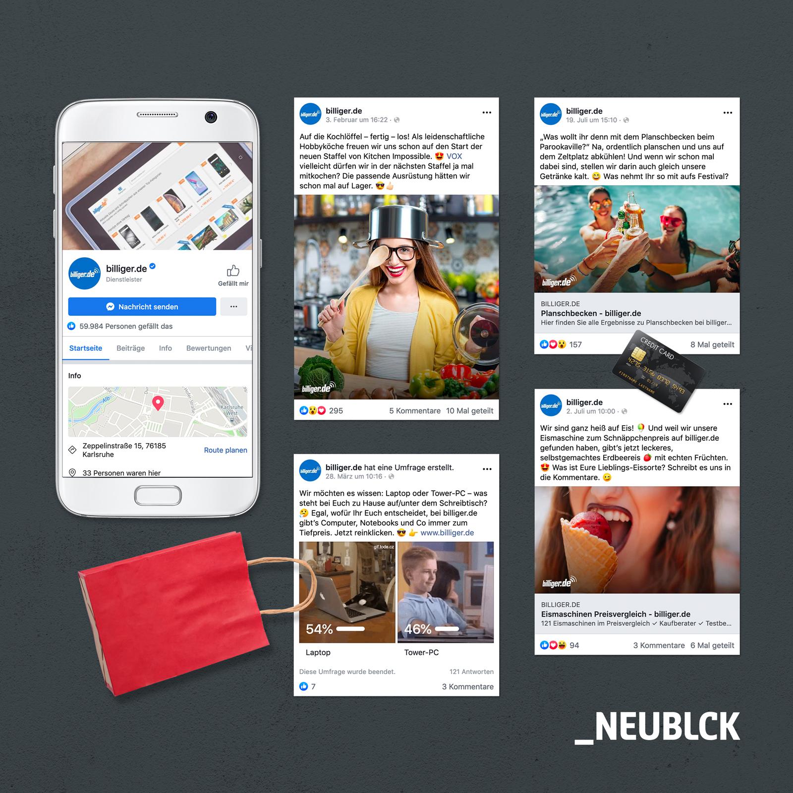 billiger.de: Social Media Betreuung
