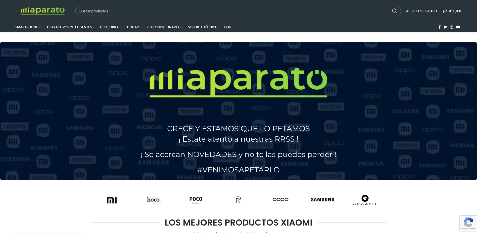 Diseño web Miaparato - Creación de Sitios Web