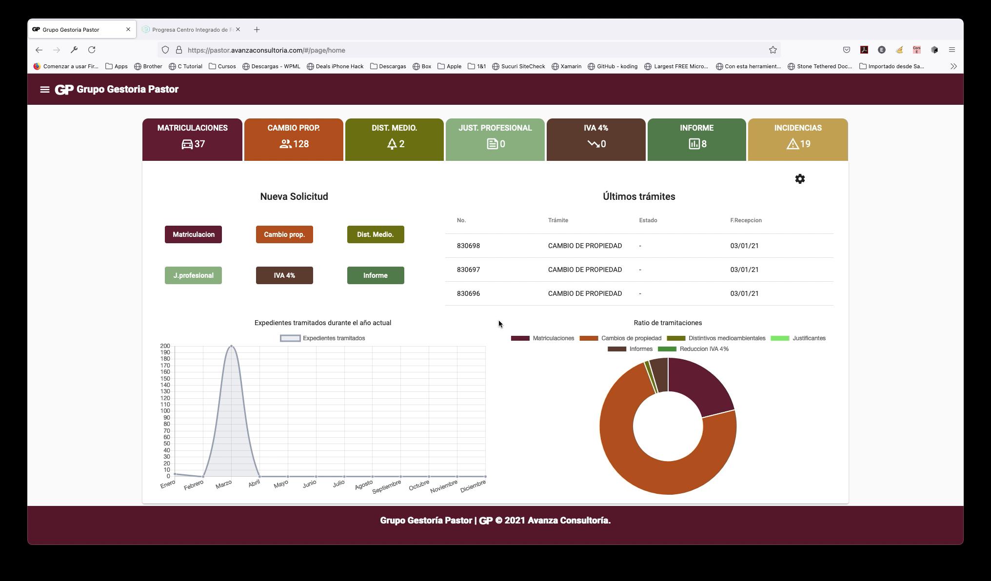 App Web para gestión de solicitudes de clientes - Aplicación Web