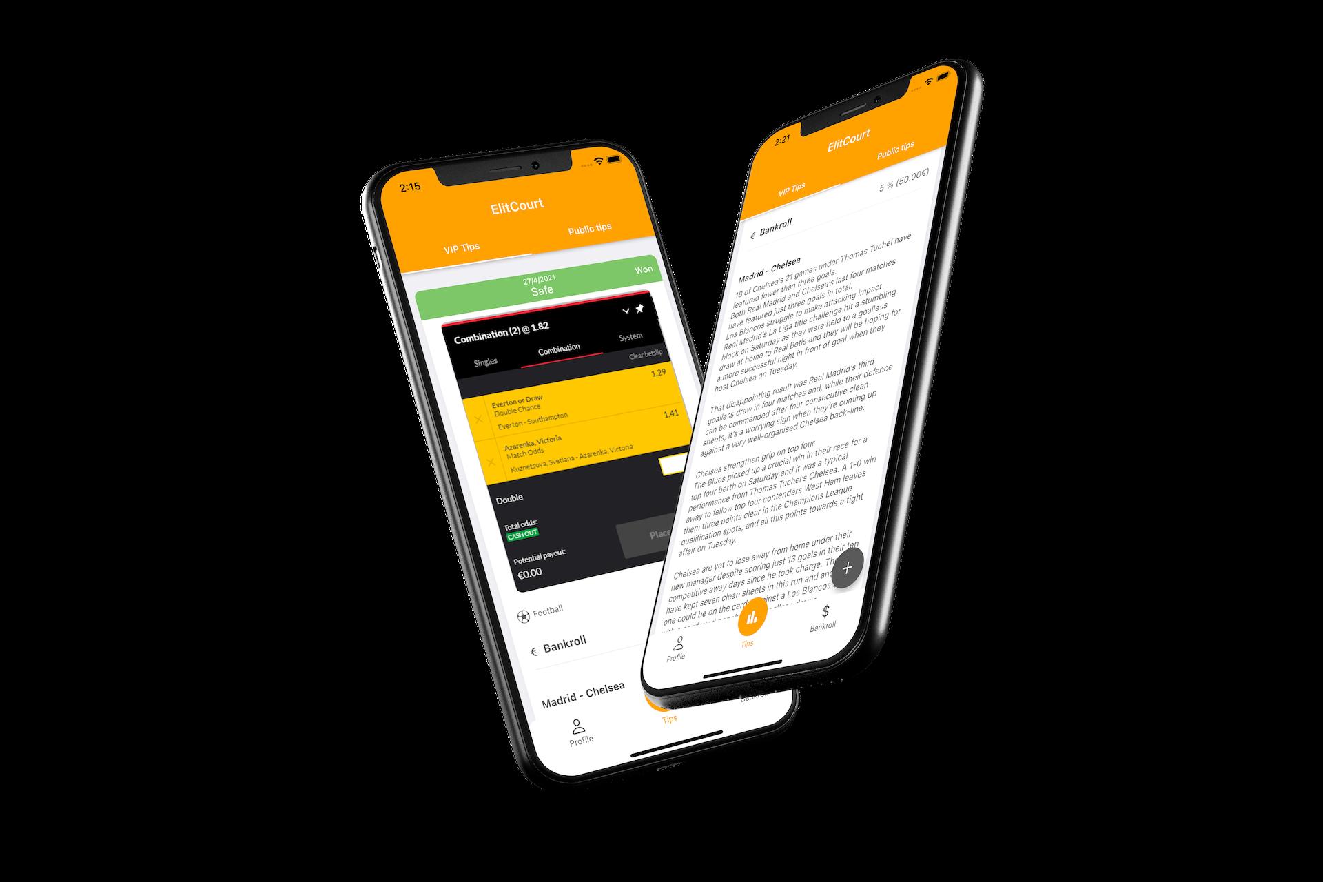 Elitcourt application - Application mobile