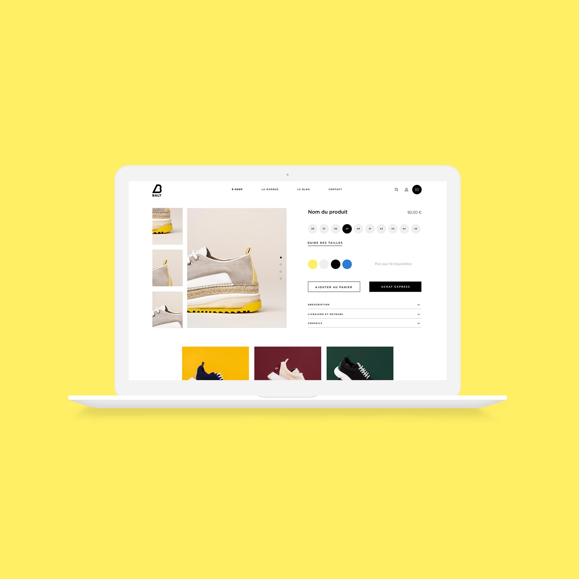BALT - Shopify Website - E-commerce