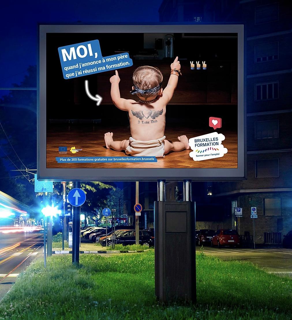 Bruxelles Formation Awareness campaign - Image de marque & branding
