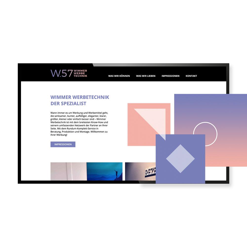 Neue Website für w.57 - SEO