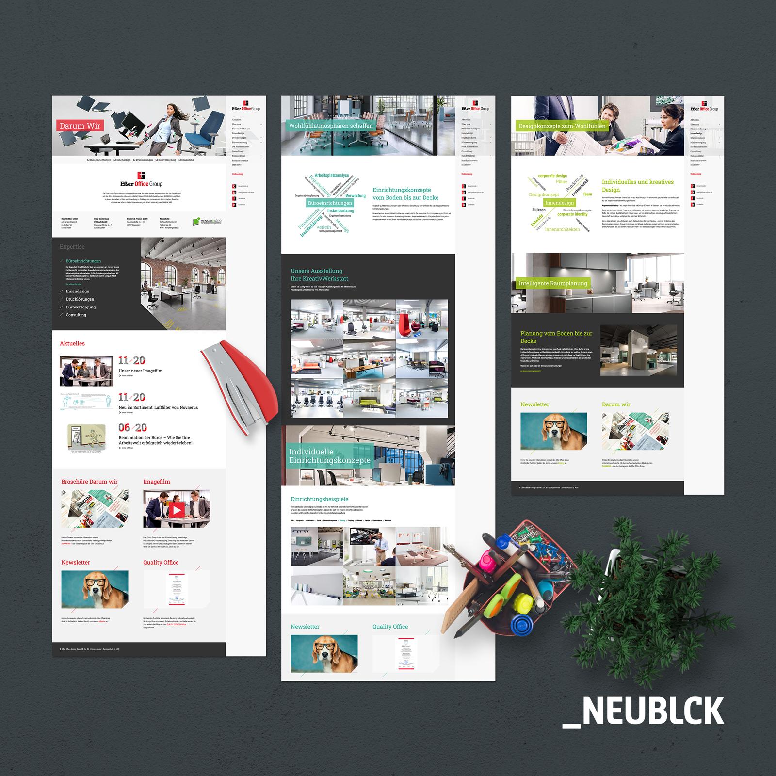 Eßer Office Group: Webdesign & Programmierung - Webseitengestaltung