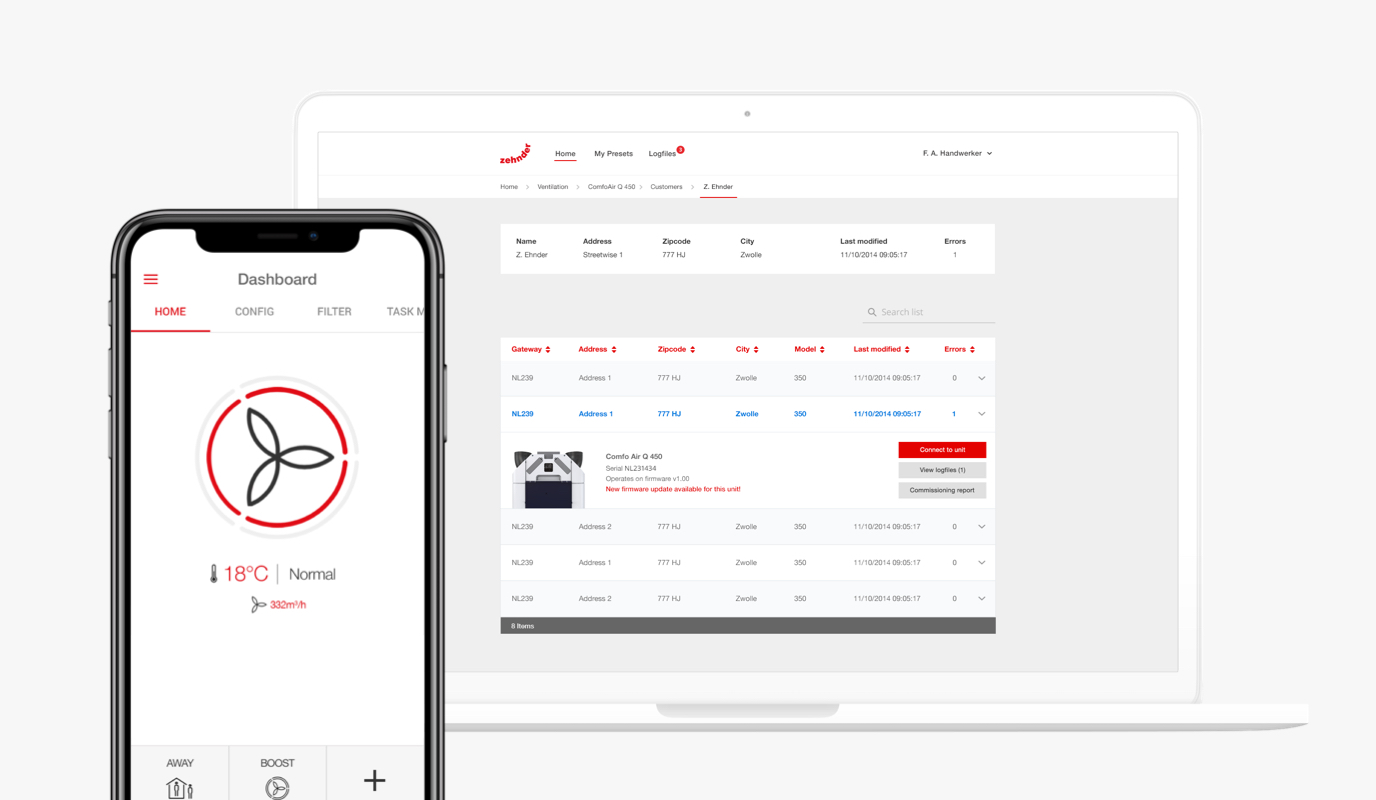 Zehnder: ComfoAir Platform