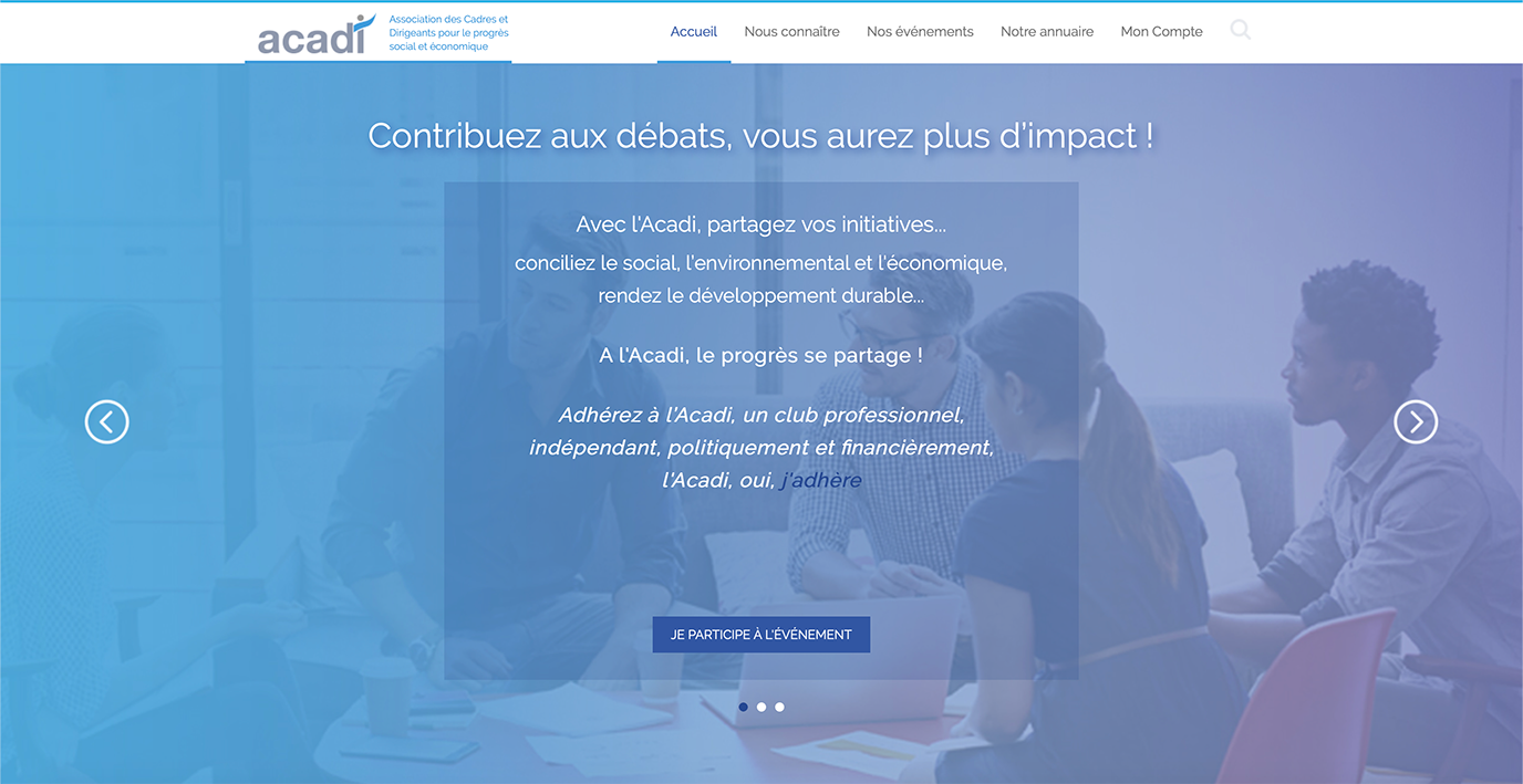 ACADI   Site Web