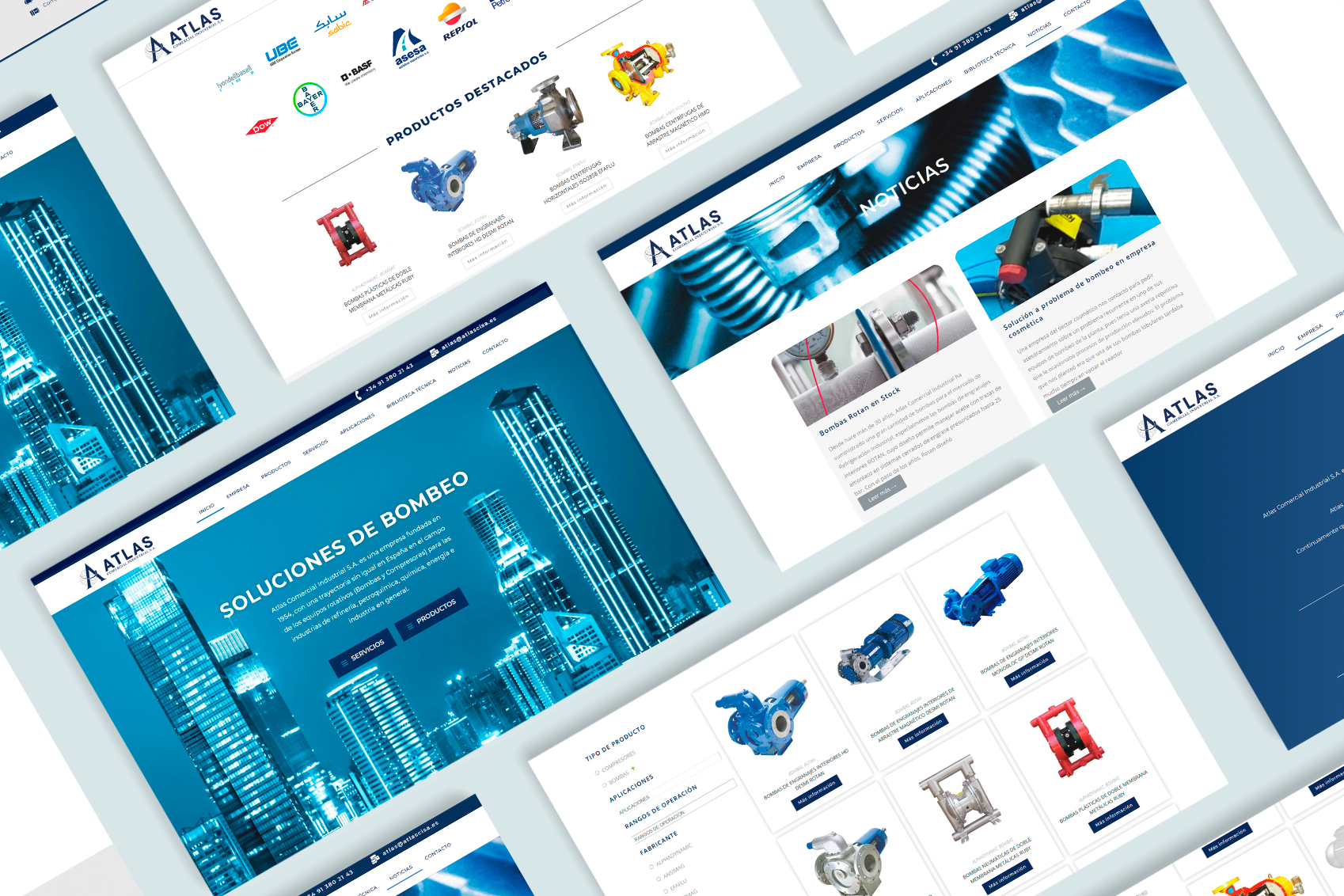 Rebranding & Web ATLAS - Creación de Sitios Web