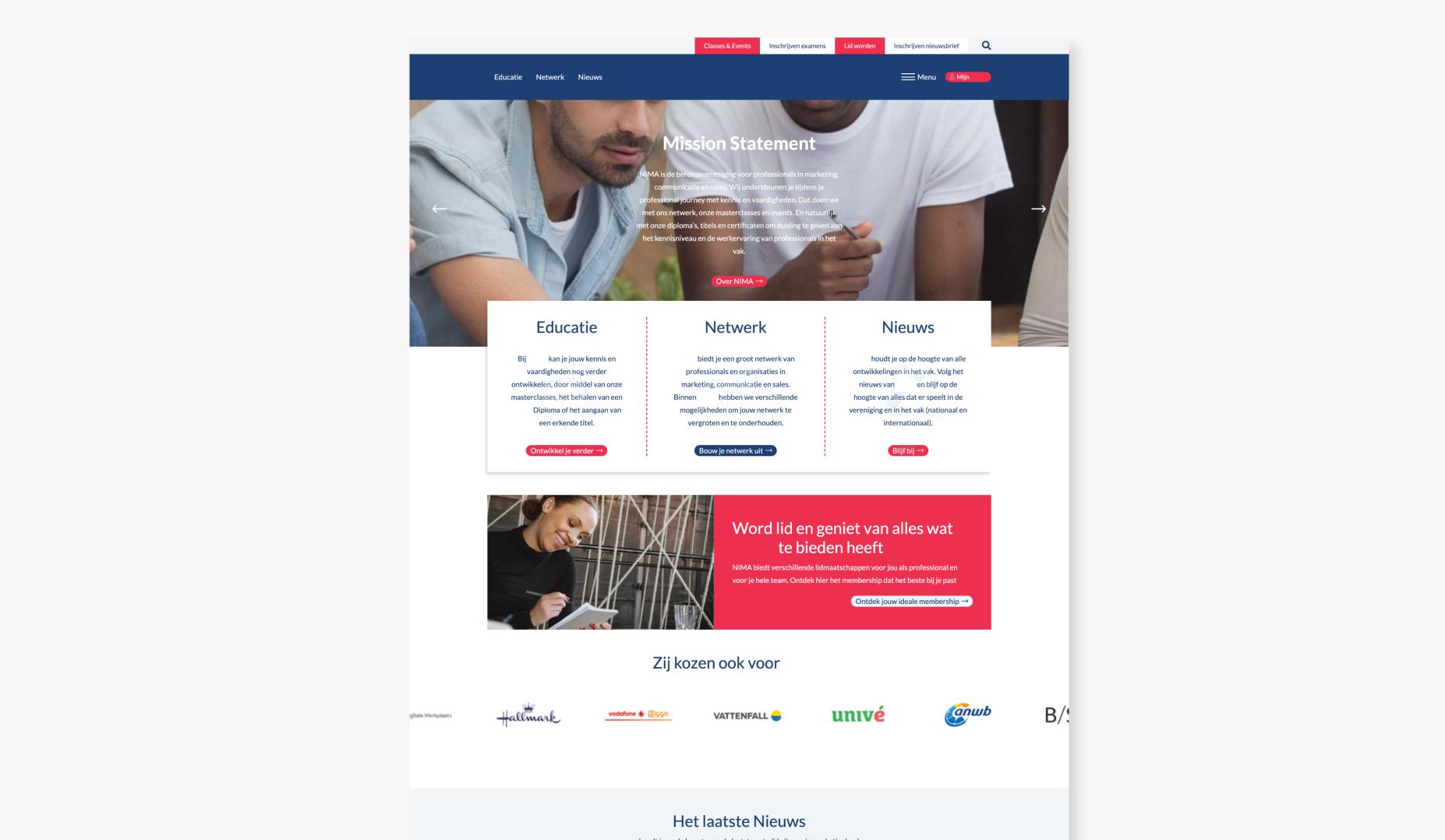 Platform for Marketing organisation - Web Applicatie