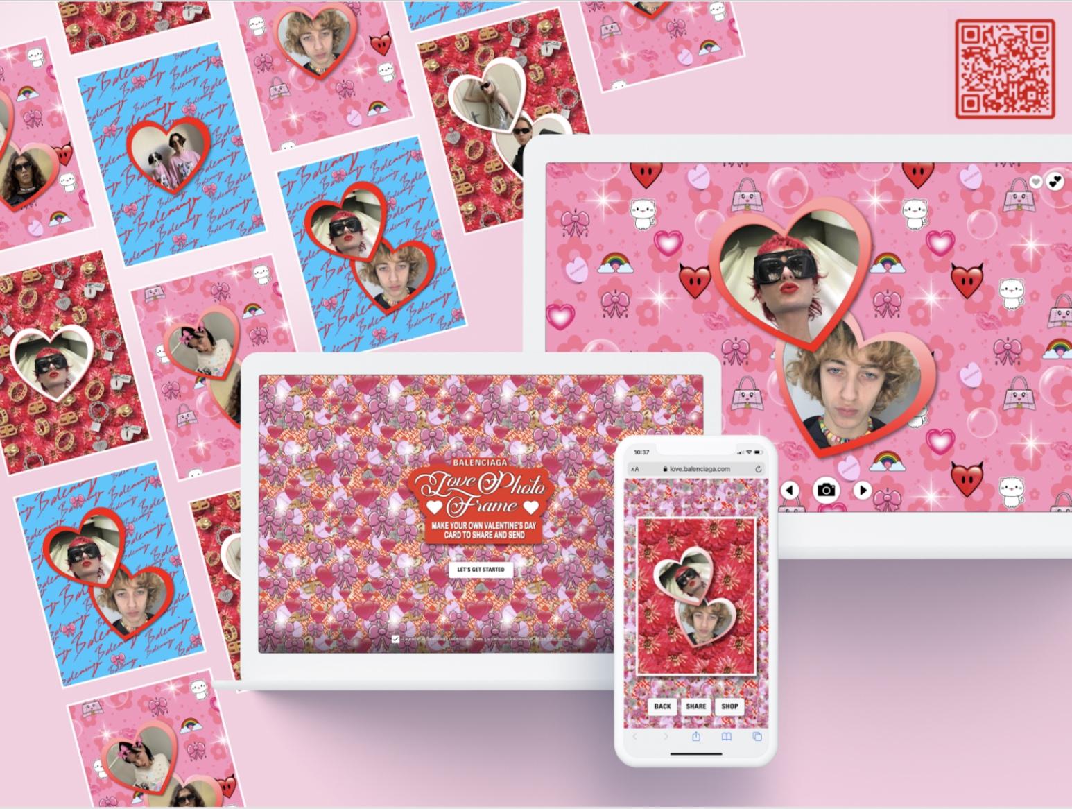Balenciaga - I LOVE YOU - Photobooth - Application mobile