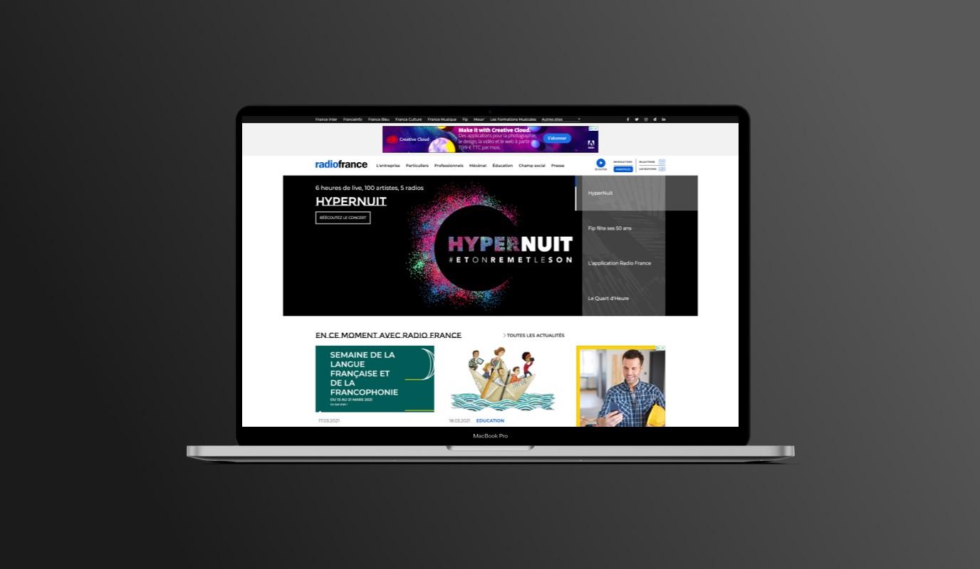 Radio France - Design/UX/UI, Drupal, SEO, Ateliers - Création de site internet