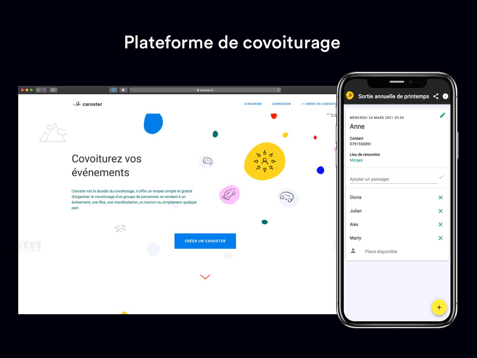 Caroster - Application mobile