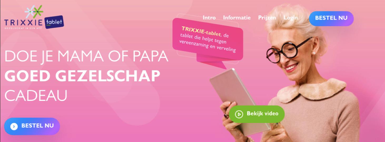 Trixxie Tablet | Website Creation - Stratégie digitale