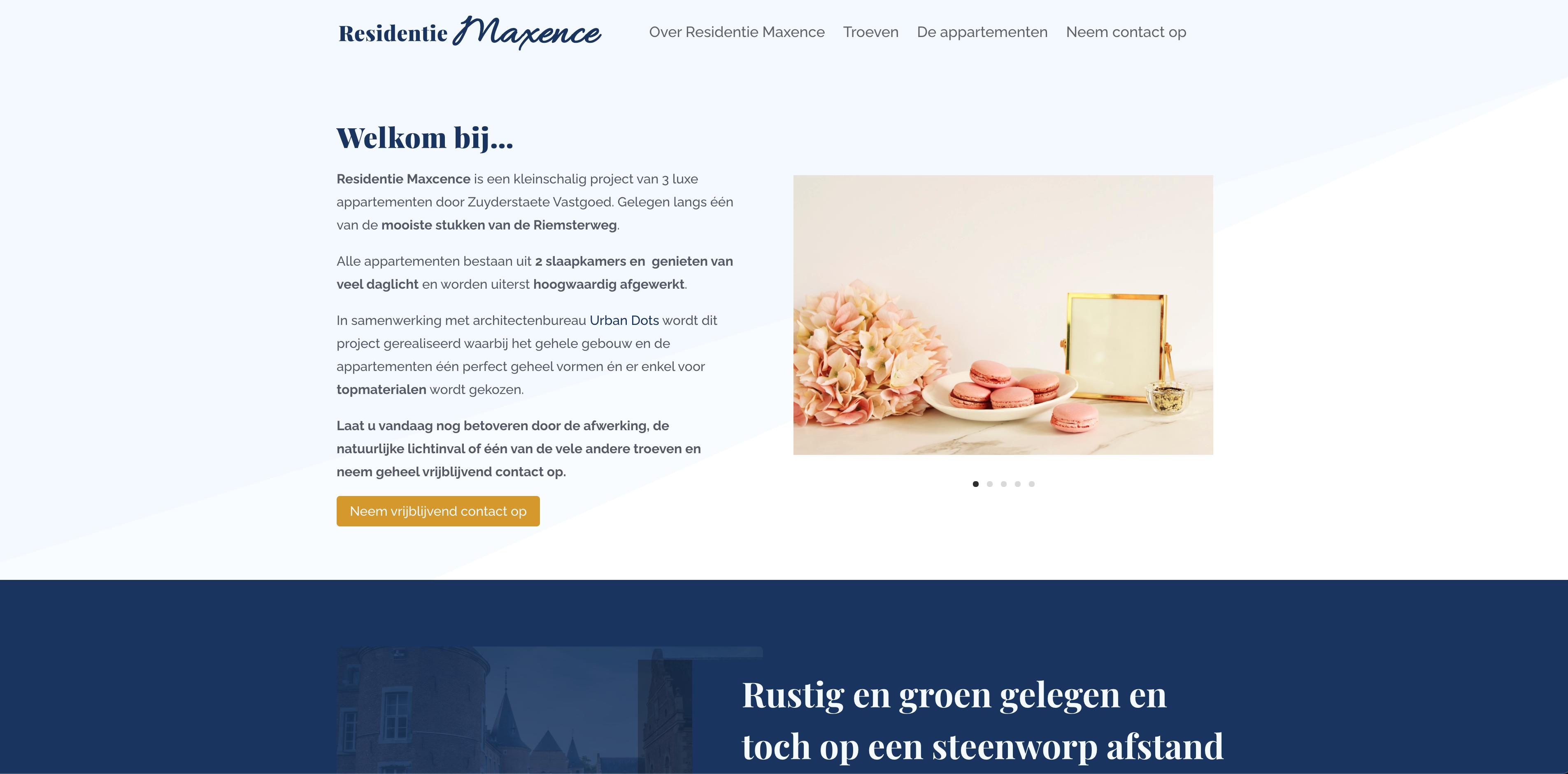 Residentie Maxence - Website Creatie