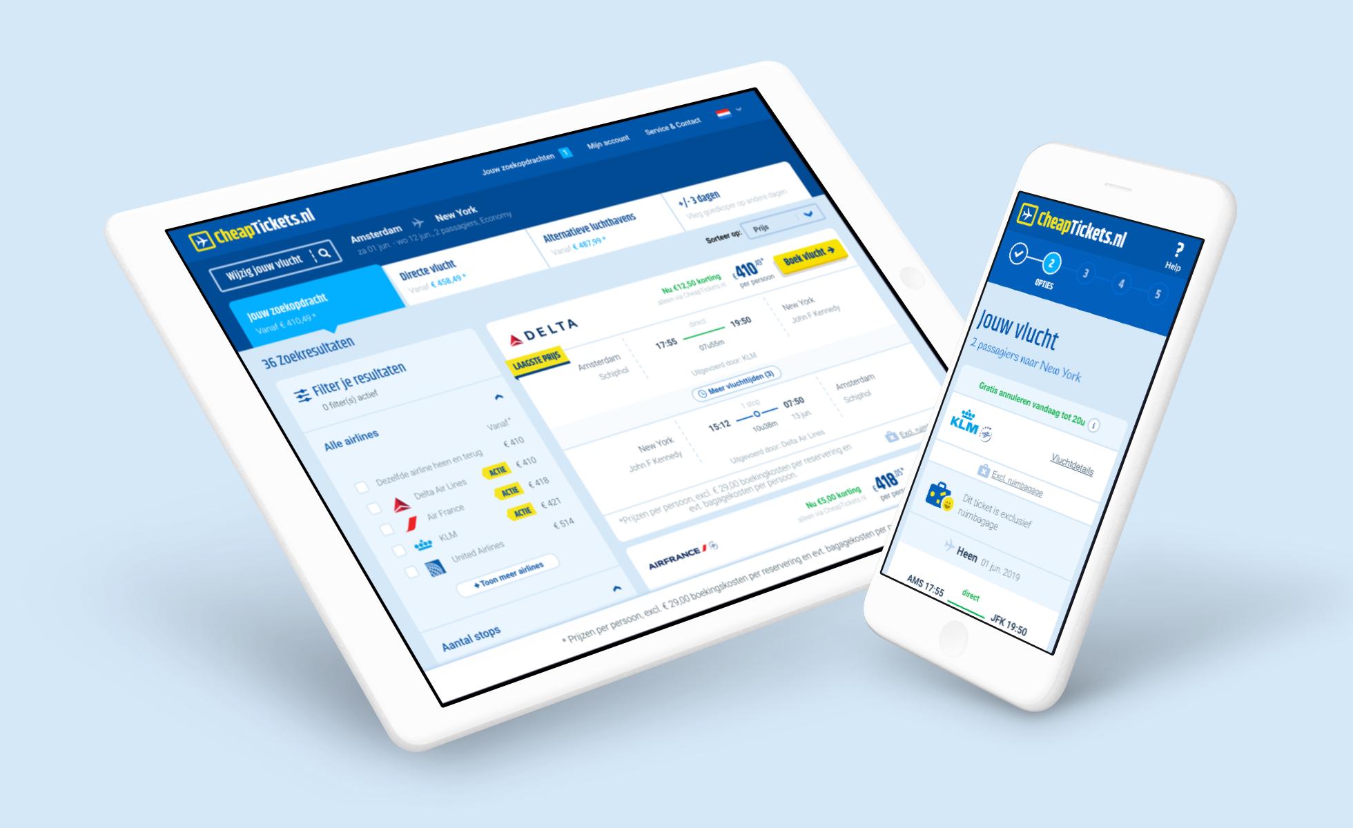 Het nieuwe Cheaptickets.nl, multi-brand platform - Branding & Positionering